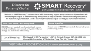 Read more about the article SMART Recovery Meeting Now Available in Vernon Hills– Mondays at 12:00 PM