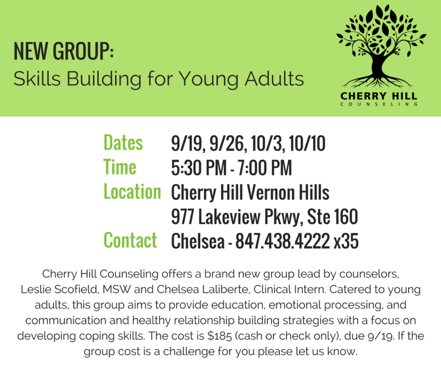 Read more about the article New Group: Skill Building for Young Adults